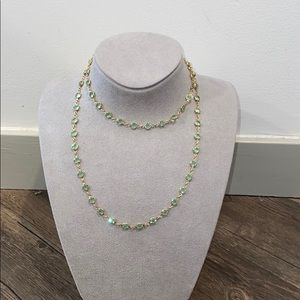 Swarovski Green and Good Chanel Necklace